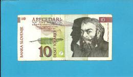 SLOVENIA - 10 TOLARJEV - 1992 - Pick 11 - Prefix TM - Banka Slovenije - 2 Scans - Slovénie