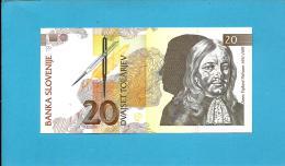 SLOVENIA - 20 TOLARJEV - 1992 - Pick 12 -  UNC. - Prefix HR - Banka Slovenije - 2 Scans - Slovénie