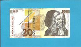 SLOVENIA - 20 TOLARJEV - 1992 - Pick 12 - Prefix LF - Banka Slovenije - 2 Scans - Slovénie