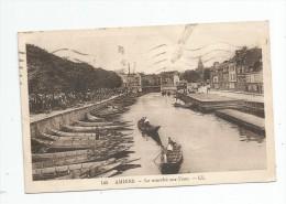 Cp , 80 , AMIENS , Le Marché Sur L'eau , Voyagée - Amiens