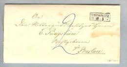 Heimat Polen Tamowitz (Tamowske Göre) 1856-12-17 Brief Nach Breslau - Pologne