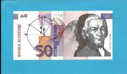 SLOVENIA - 50 TOLARJEV - 1992 - Pick 13 -  UNC. - Prefix MN - Banka Slovenije - 2 Scans - Slovénie