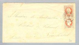 Heimat Polen Dawid Kowice 1877-01-26 GS+ > Neuchâtel CH - Covers & Documents