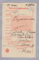Heimat Polen GROSS-WARTENBERG (SYCOW) 1889-03-1 Auf Postschein - ....-1919 Gouvernement Provisoire