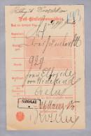 Heimat Polen NAMSLAU 1885-03-26 Auf Postschein - ....-1919 Gouvernement Provisoire