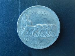 50 Centesimi 1920 R, Italie - Tranche Striée - TTB - 1900-1946 : Víctor Emmanuel III & Umberto II