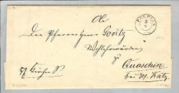 Heimat Polen Pelplin 1853-08-05 Brief Nach Quaschin - Pologne