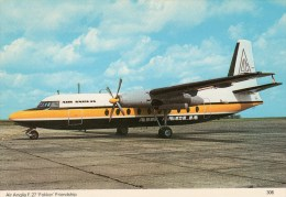 "Postcard - Air Anglia F.27 ""Fokker"" Friendship. 306 - 1946-....: Moderne"