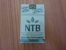 """Paquet Cigarettes Vide """"NTB"""" (MENTHE), Sans Tabac, Sans Nicotine - Boites à Tabac Vides"""