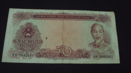 Viet Nam Vietnam 50 Dong VF Banknote 1976 - P#84 - RARE / 02 Images - Vietnam