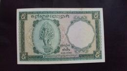 Indochine Indochina Viet Nam Vietnam Laos Cambodia 5 Dong AU Banknote 1953 - P#95 - Scarce / 02 Images - Indochina