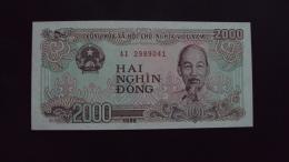 Lot Of 10 Viet Nam Vietnam 2000 Dong Crisp UNC Banknotes 1988 - P#107 / 02 Images - Vietnam