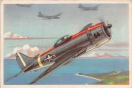 "03717 ""13 - REPUBLIC P-47 THUNDERBOLT (AEREO DA CACCIA) - S.I.D.A.M. TORINO - AEREI D'OGGI"" FIGURINA CARTONATA ORIGIN. - Motori"