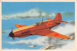 """03720 """"17 - LAYOTOCHKINE LAGG-3 (AEREO DA CACCIA) - S.I.D.A.M. TORINO - AEREI D'OGGI"""" FIGURINA CARTONATA ORIGINALE. - Motori"""