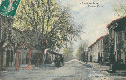 CPA 84 CHEVAL-BLANC ROUTE DE PERTUIS JOLI PLAN CHARRETTE - France
