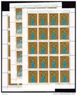 1988 Vaticano Vatican MILLENNIO KIEV 20 Serie Di 3v. In Foglio MNH** Sheets - Nuovi