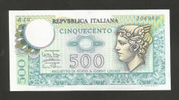 REPUBBLICA ITALIANA - 500 Lire - MERCURIO (Decr. 14/02/1974) - 500 Lire