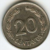 Equateur Ecuador 20 Centavos 1966 KM 77.1c - Equateur