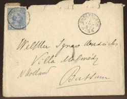 DV6-38a NETHERLANDS 1897 LETTER NVPH 35 SHIPPED FROM OUDENBOSCH TO BUSSUM. KLEINROND OUDENBOSCH, GROOTROND BUSSUM. - Periode 1891-1948 (Wilhelmina)
