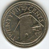 Barbades Barbados 25 Cents 1990 KM 13 - Barbades