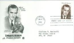 United States 1994 Edward R. Murrow FDC - Lot USA917 - Ersttagsbelege (FDC)