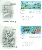 United States 1994 Wonders Of The Sea, Fish, Shell FDC - Lot USA918 - Ersttagsbelege (FDC)