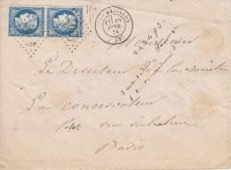 Nr 60 (2), Sur Lettre De Chatillon A Paris (5551) - 1871-1875 Cérès