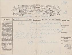 ALLEMAGNE TELEGRAM 1886 BRESLAU - Norddeutscher Postbezirk