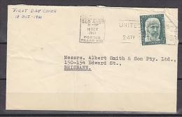 AAT 1961 Mawson 1v FDC Ca Brisbane °osted At Pillar Box 18 Oct 1961 (F3911) - FDC