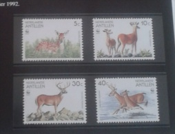 WWF - SERIE LE CERF A QUEUE BLANCHE - 4 TIMBRES NEUFS** + 4 FDC - W.W.F.