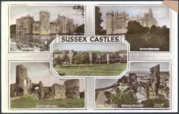 Sussex Castles - Old Unused Postcard Bb - England
