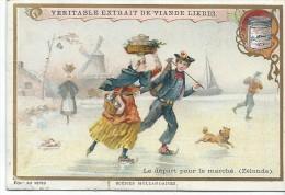 Images/Chromo/Scénes Hollandaises/départ Pour Le Marché/Cie Liebig/Sanguinetti N°674/ Vers 1895   LBG19 - Liebig