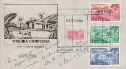 Colombia, FDC 1950, Vivienda Campesina (5563) - Vaches