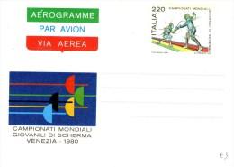 A 2374 - Intero, Biglietto Postale, Scherma, Sport - 6. 1946-.. Repubblica