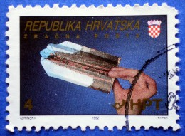 CROATIA AIRMAIL ZAGREB - OSIJEK 1992 USED STAMP - Croazia