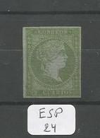 ESP  Edifil  39 ( X ) YT 34 - 1850-68 Royaume: Isabelle II