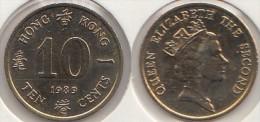 Hong Kong 10 Cents 1989 Km#55 - Used - Hong Kong