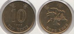 Hong Kong 10 Cents 1997 Km#66 - Used - Hong Kong