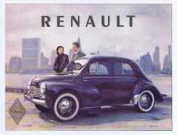 RENAULT 4 CV catalogue d�pliant ancien pour export en anglais, Garanti d��poque. Voir description d�taill�e et 4 photos