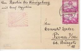 Deutschlandfahrt 1934, Op Kaart Adolf Hitler (5570) - Zeppelins