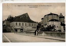 47 - NÉRAC . L´ESCALIER MONUMENTAL . LE VIEUX CHÂTEAU HENRI IV . L´ÉGLISE St-NICOLAS - Réf. N°10422 - - Nerac
