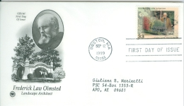 United States 1999 New YearFrederick Law Olmsted FDC - Lot USA993 - Ersttagsbelege (FDC)