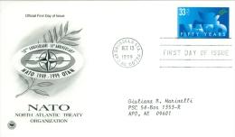 United States 1999 NATO FDC - Lot USA995 - Ersttagsbelege (FDC)