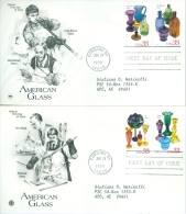 United States 1999 American Glass FDC - Lot USA996 - Ersttagsbelege (FDC)