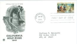 United States 1999 California Gold Rush FDC - Lot USA9913 - Ersttagsbelege (FDC)