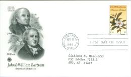 United States 1999 John & William Bartram Botanics, Flower FDC - Lot USA9921 - Ersttagsbelege (FDC)