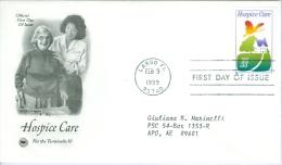 United States 1999 Hospice Care FDC - Lot USA9922 - Ersttagsbelege (FDC)