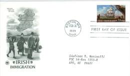 United States 1999 Irish Immigration FDC - Lot USA9926 - Ersttagsbelege (FDC)