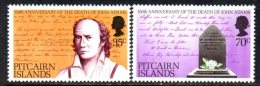 Pitcairn Island 1979 150th Anniverasry Of John Adams' Death Set Of 2, MNH - Stamps