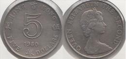 Hong Kong 5 Dollars 1980 Km#46 - Used - Hong Kong